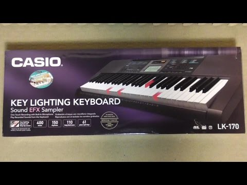 Casio LK-170 KEY Lighting Lighted Keyboard DIGITAL PIANO Costco Item #903596 Review