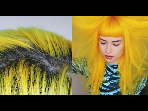 Retouching My Roots & Dying My Hair Yellow w/ Arctic Fox