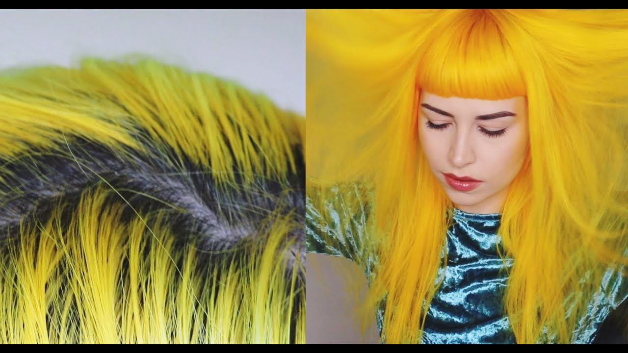 Retouching My Roots Dying My Hair Yellow W Arctic Fox