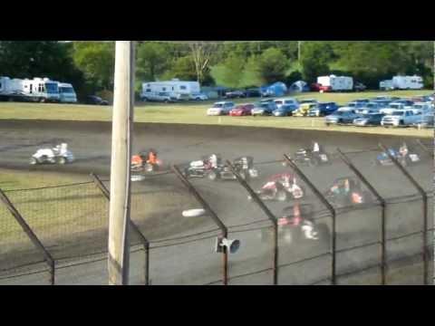 USAC Midgets - June 13, 2012 - Gas City - Heat 2 (Ray, Abreu, Meseraull, Welch)