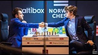 Levon Aronian vs Magnus Carlsen   2017  Norway Chess Tournament
