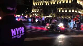 NYPD & UNITED STATES SECRET SERVICE ESCORTING POPE FRANCIS FROM ST. PATRICK