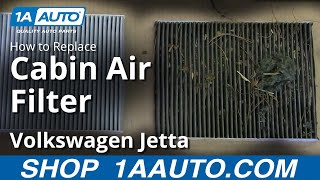 How To Install Replace Cabin Air Filter 1999-05 Vw Volkswagen Jetta