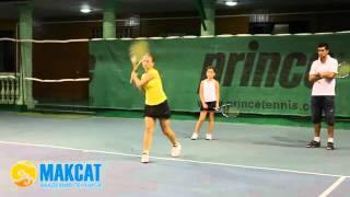 Тренировка в Академии тенниса  Максат  1