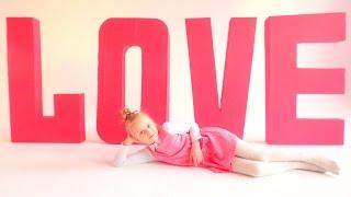 БУКВЫ ОБЪЕМНЫЕ LOVE Как сделать? Поделки из картона