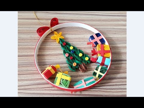 DIY Paper Quilling -Christmas Wreath - Easy & Simple  Christmas design22