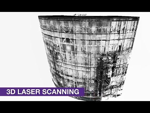 Laser scan and BIM model of Hunterston nuclear power plant