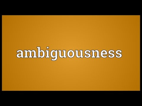Header of ambiguousness