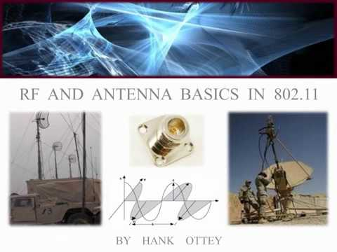 RF and Antenna Basics in 802 11
