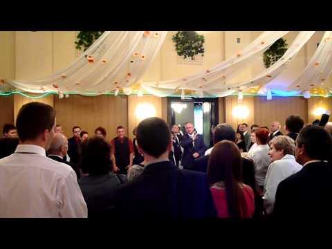 Polish wedding reception Englishman waiting