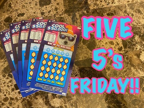 FIVE 5's FRIDAY!! 1/17/20 Wisconsin Lottery Scratch Offs!!