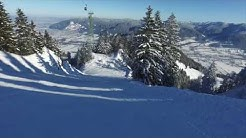 Brauneck Ski - Bergwasser am Brauneck bei Lenggries in Oberbayern