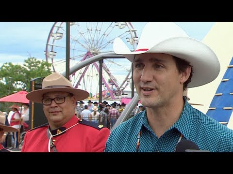 Trudeau stampedes into Calgary