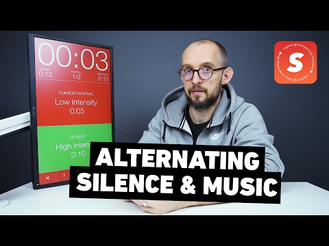 Alternating Music with Silence | Seconds Interval Timer | iOS