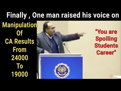 CA Results Manipulation || one man raised his voice against ICAI || ICAI Exposed