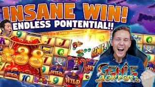 MEGA WIN! Genie Jackpots BIG WIN - HUGE WIN - Casino games (Online slots) from LIVE stream
