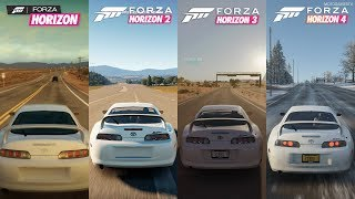 1998 Toyota Supra RZ - All Forza Horizon Games Sound Comparison