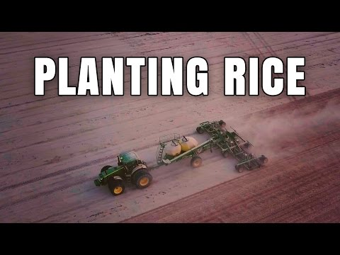 Arkansas Rice Planting 2017 With John Deere Air Drill - Drone Footage