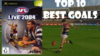 Top 10: Best Goals | AFL Live 2004