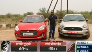 Maruti  Swift  Vs Ford Freestyle Hindi Comparison 2018 | Auto India