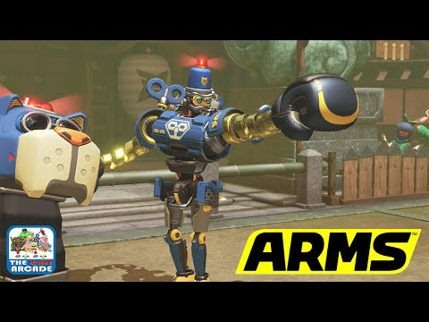 ARMS - Lovable Beach Cops Byte & Barq Enter the ARMS Grand Prix (Nintendo Switch Gameplay)