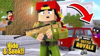 Minecraft Adventure - FORTNITE HIDE & SEEK!!!