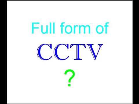 CCTV Full form of ? - YouTube