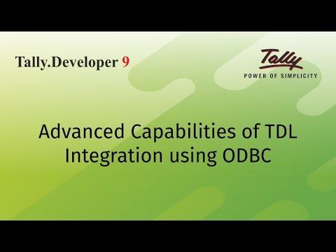 Advanced capabilities of TDL - Integration using ODBC