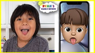 NEW Memoji iPhone Custom Animoji of yourself with Ryan's Family Review!!!