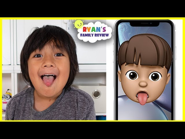 NEW Memoji iPhone Custom Animoji of yourself with Ryan's Family Review!!!