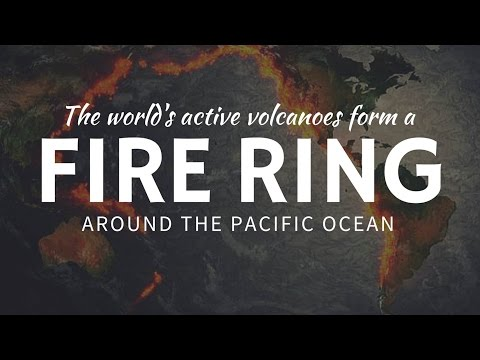 The Pacific Ring of FIRE formed by 50% of world's active volcanoes