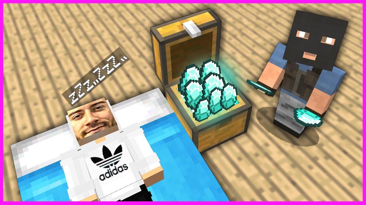ENES BATUR'UN EVİNE HIRSIZ GİRİYOR! 😱 - Minecraft