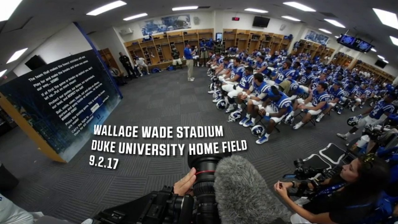 Duke's Coach Cutcliffe season opener pre-game speech - YouTube