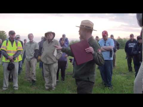 Sunrise in Tapp Field Tour Wilderness 150th with Frank O'Reilly and Eric Mink Pt 1