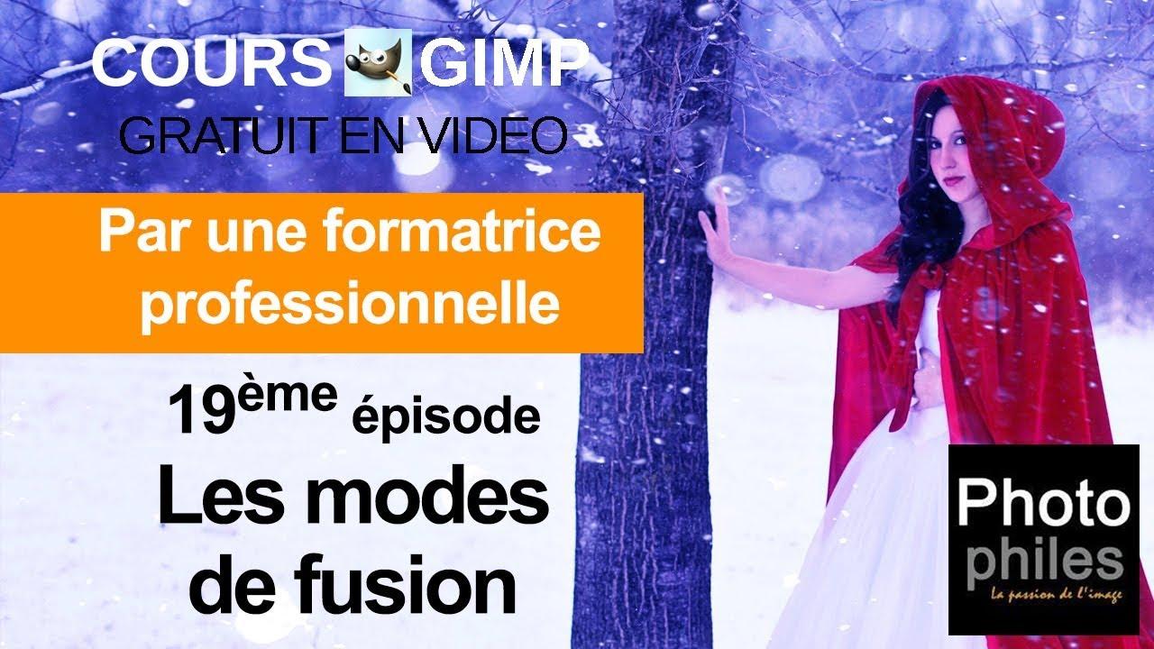 N°19 Cours GIMP : Modes de fusion des calques