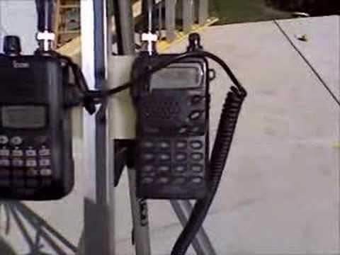 Arrow II Antenna and 2 Icom Handheld HT's