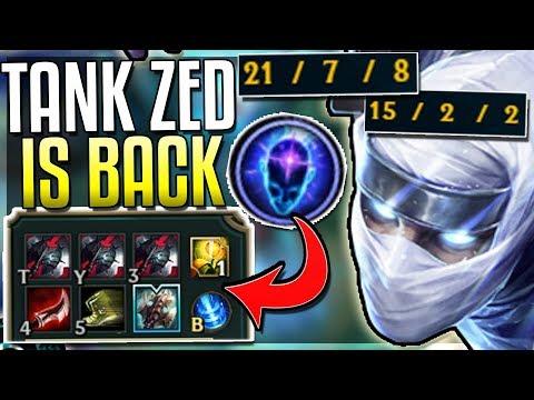 NEW TANK ZED BUILD! IT'S SO BROKEN (New Runes) Black Cleaver CDR Stacking - League of Legends