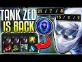 NEW TANK ZED BUILD! IT'S SO BROKEN (New Runes) Black Cleaver CDR Stacking - League of Legends