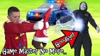 GONE FOREVER! ELF ON THE SHELF COP KID FINDS GAME MASTER ESCAPE HID...
