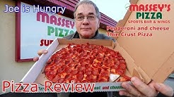 Massey's Pizza Review | Pepperoni and cheese Thin Crust Pizza | Great Guido Sub Sandwich Review