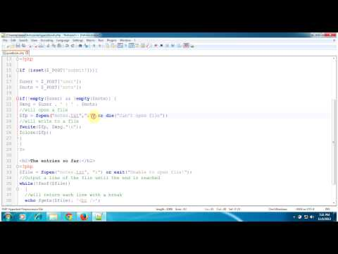 PHP Tutorial - How to Create Guestbook using Notepad and PHP