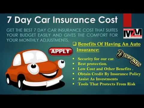 Get Instant Quotes For 7 Day Car Insurance Under 25