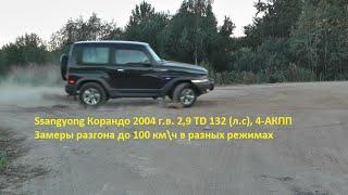 Ssangyong Korando 2004 г.в. 2.9 TD. Разгон до 100 км. Тесты от Игоря Полетаева