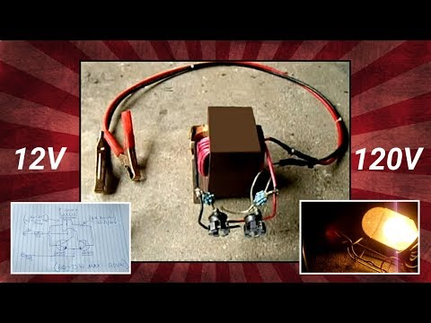 Microwave Oven Transformer(MOT) 12V to 120V Inverter