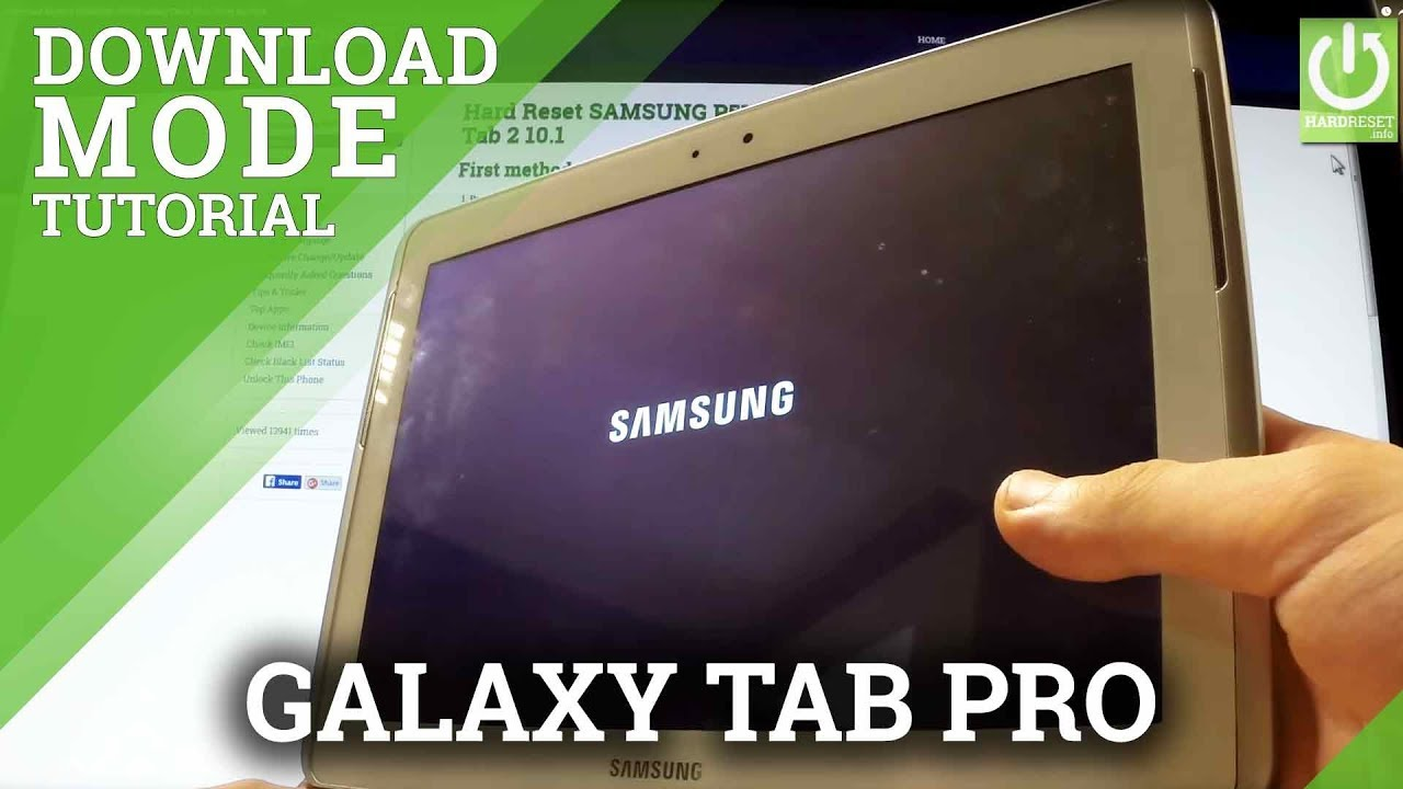 Download Mode in SAMSUNG P5100 Galaxy Tab 2 10.1 - Enter and Quit - YouTube