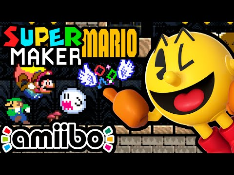 Super Mario Maker PART 8 Gameplay Walkthrough (Mario World Ghost House, Pac-Man Luigi Amiibo) Wii U