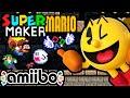 Super Mario Maker PART 8 Gameplay Walkthrough (Mario World Ghost House, Pac-Man Luigi Amiibo) Wii U