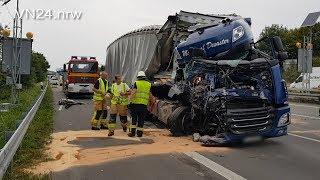 29.08.2018 - VN24 - (Teil 2) Schwerer LKW-Unfall am Stauende auf A2