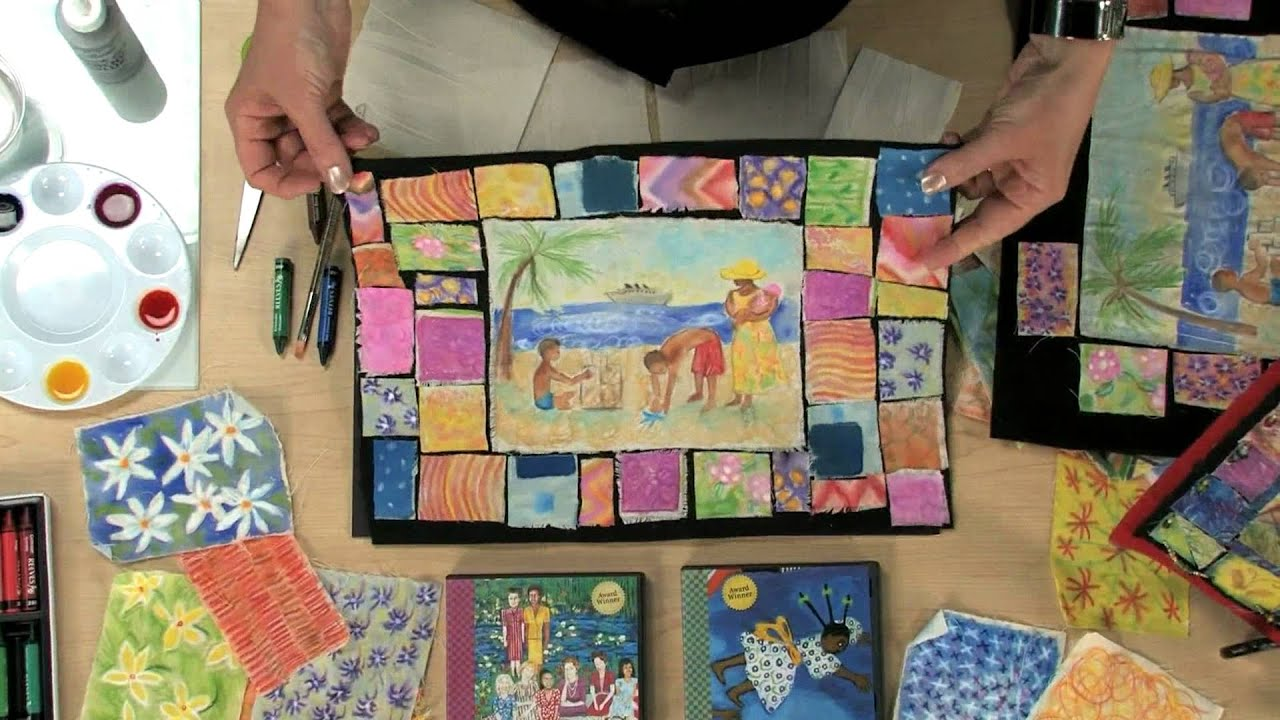 Painted Story Quilt - Lesson Plan - YouTube : painted quilt - Adamdwight.com