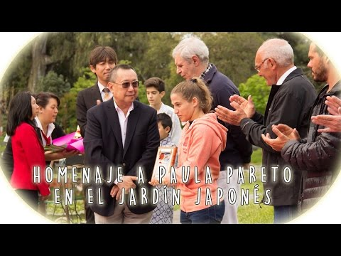 Homenaje a Paula Pareto en el Jardín Japonés